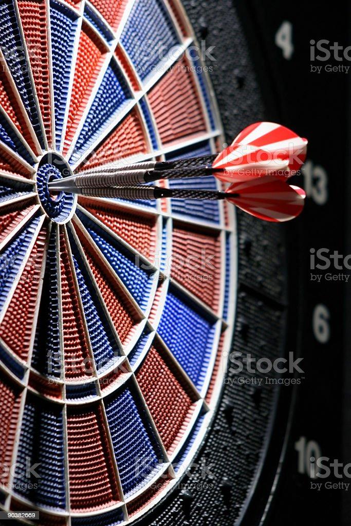 Dart game detail royalty-free stock photo