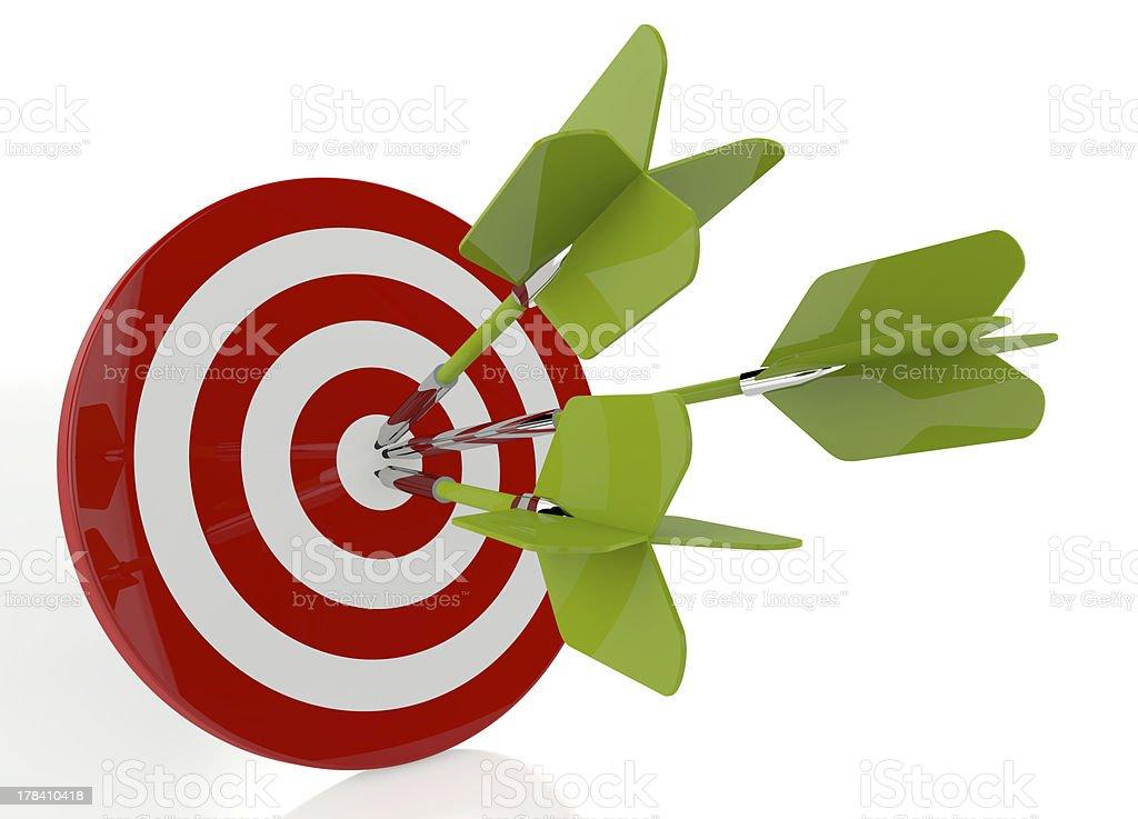 Dart Hitting A Target royalty-free stock photo