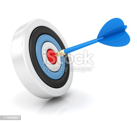 859332096 istock photo Dart hitting target 174999857