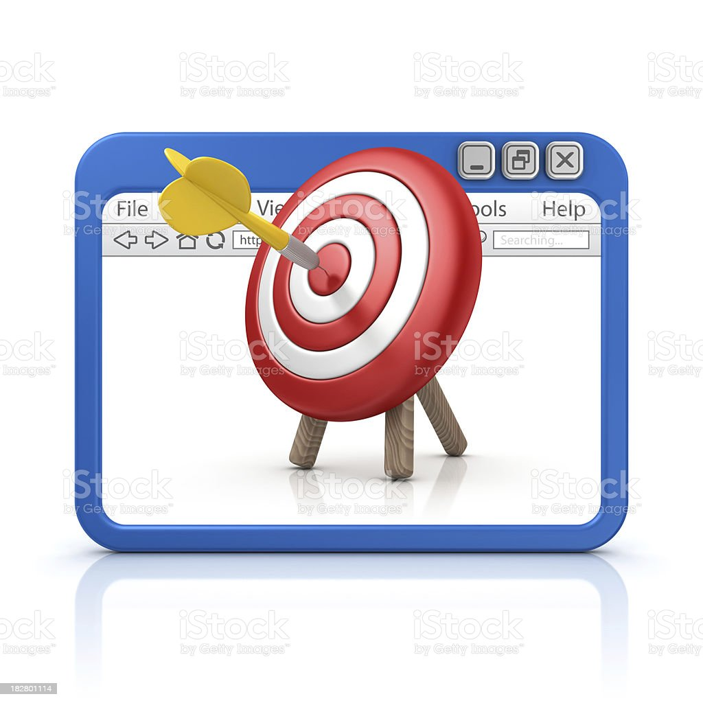 dart in browser royalty-free stock photo