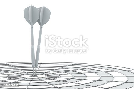 921518946istockphoto Dart in Bull's Eye 1128209438