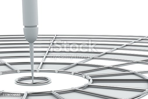 921518946istockphoto Dart in Bull's Eye 1128209583