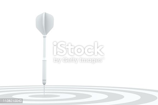 921518946istockphoto Dart in Bull's Eye 1128210040