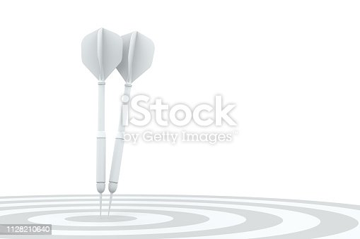 921518946istockphoto Dart in Bull's Eye 1128210640