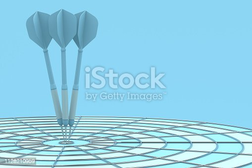 469652019 istock photo Dart in Bull's Eye 1128210959