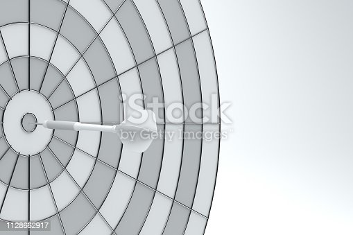 921518946istockphoto Dart in Bull's Eye 1128662917