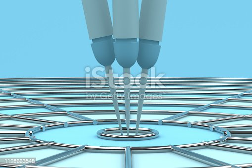 469652019 istock photo Dart in Bull's Eye 1128663548