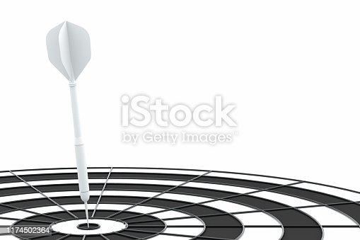 istock Dart in Bull's Eye 1174502364