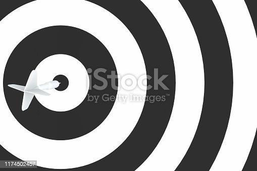 921518946istockphoto Dart in Bull's Eye 1174502457