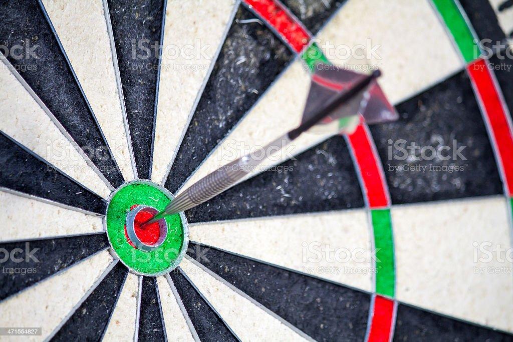 Dart in Bullseye royalty-free stock photo