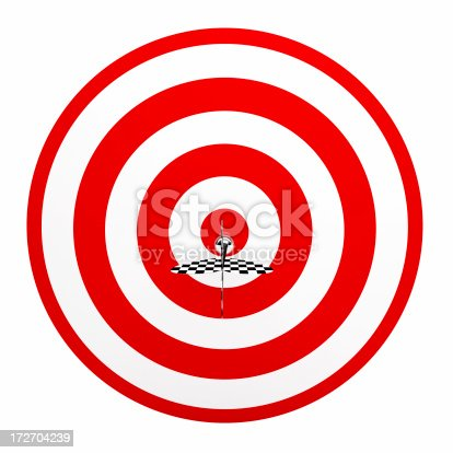520244535 istock photo 3D Dart in Center of Target 172704239