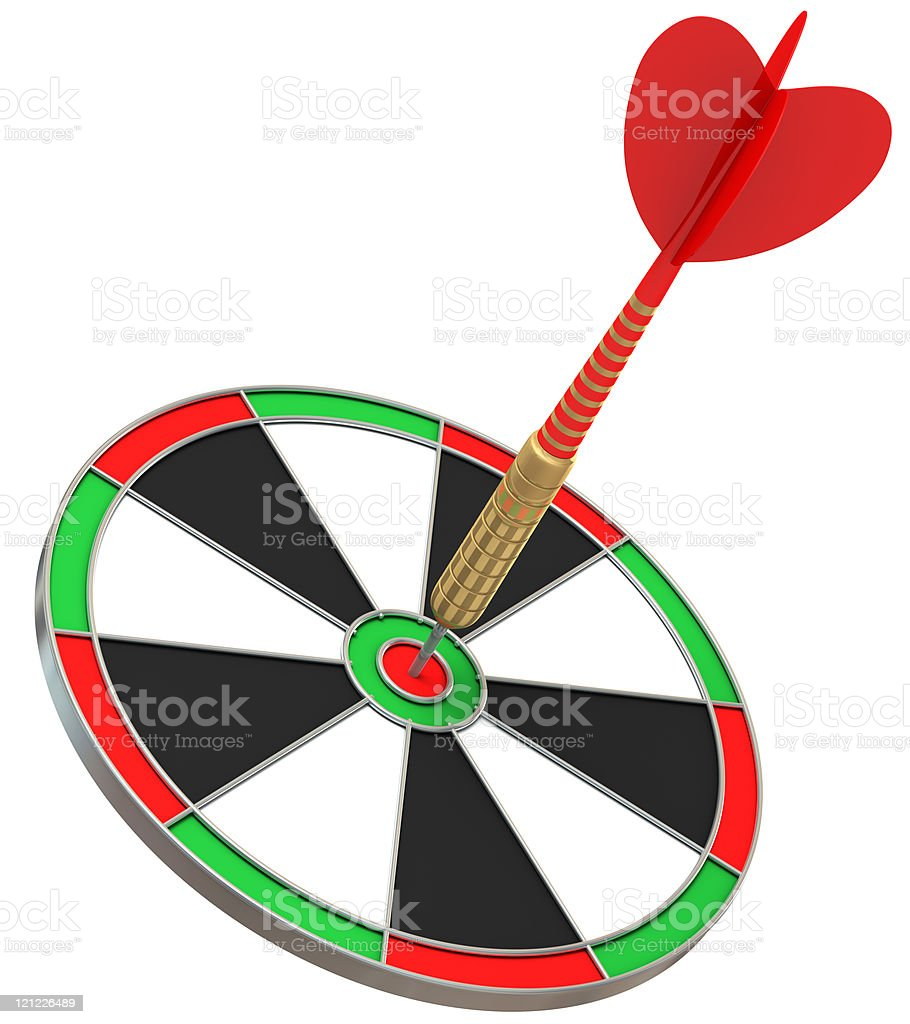 Dart in the bull's-eye! royalty-free stock photo
