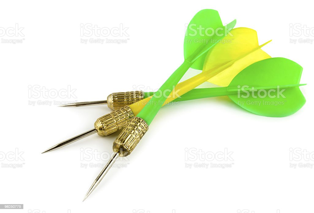 Dart on a white background royalty-free stock photo