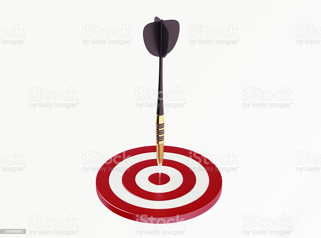 Dart on red target royalty-free stock photo