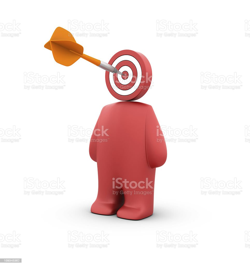 Dart on Target and  People stock photo