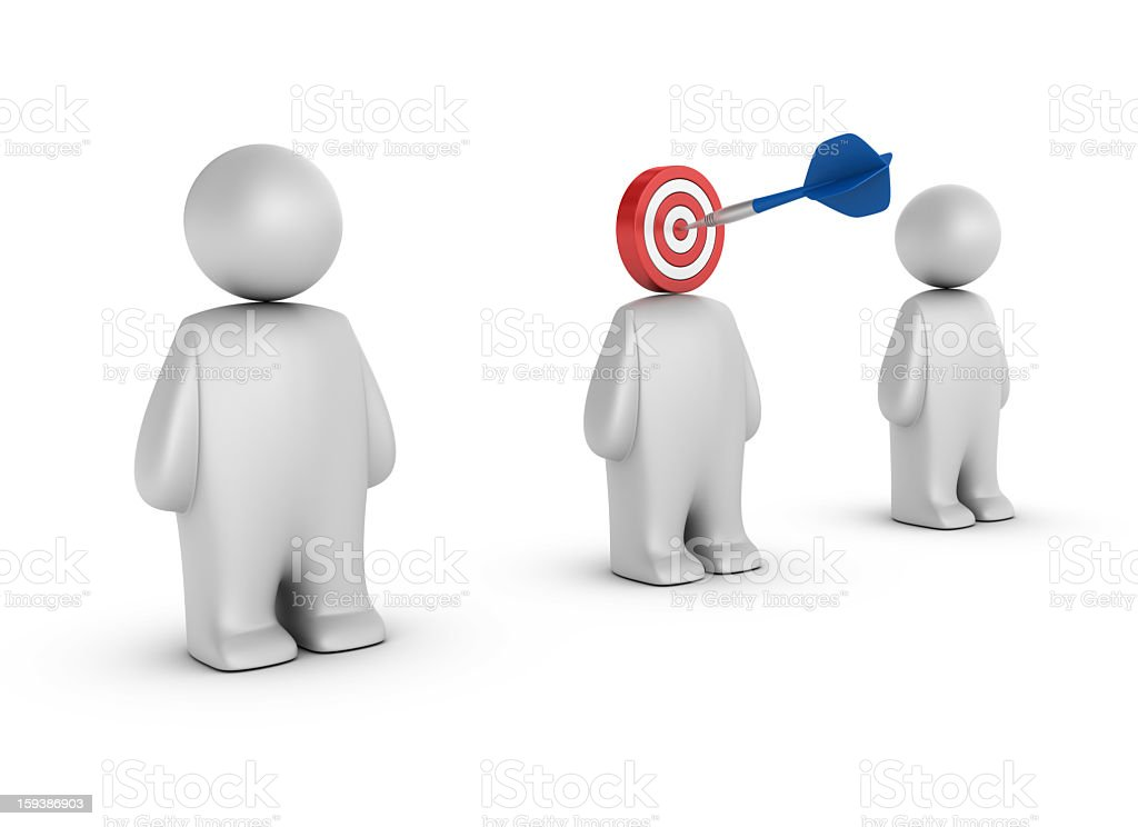 Dart on Target and  People royalty-free stock photo