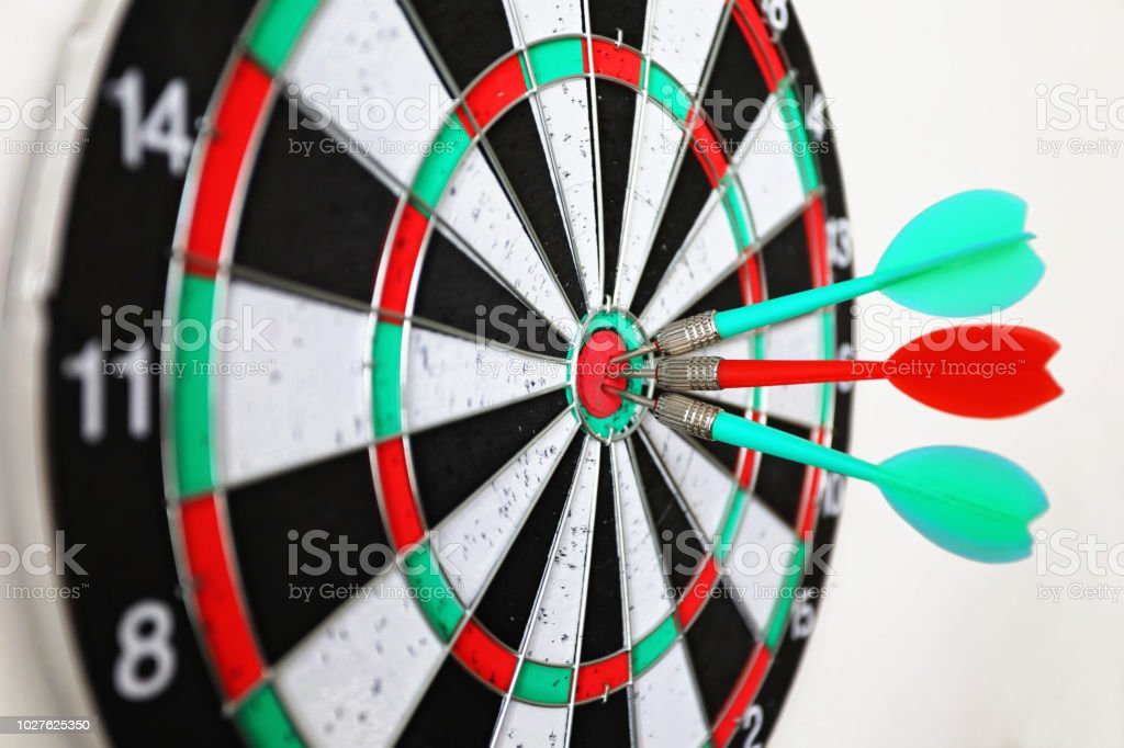 Dart on target business competition concept
