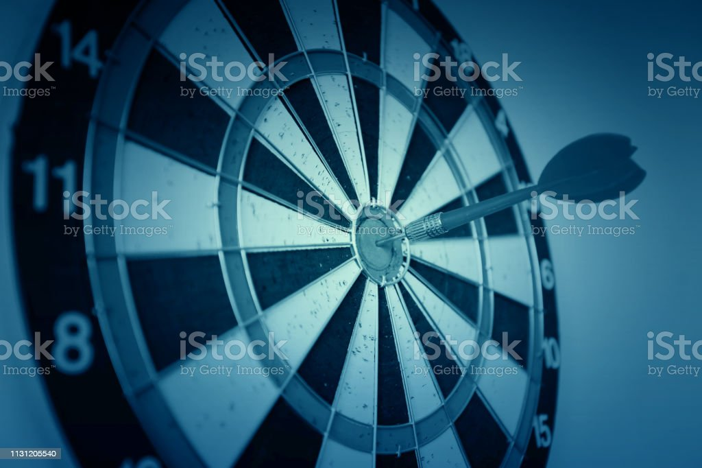 Dart on target business leadership concept