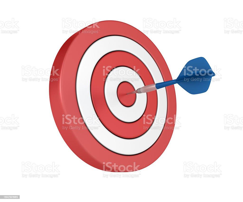 Dart on Target royalty-free stock photo