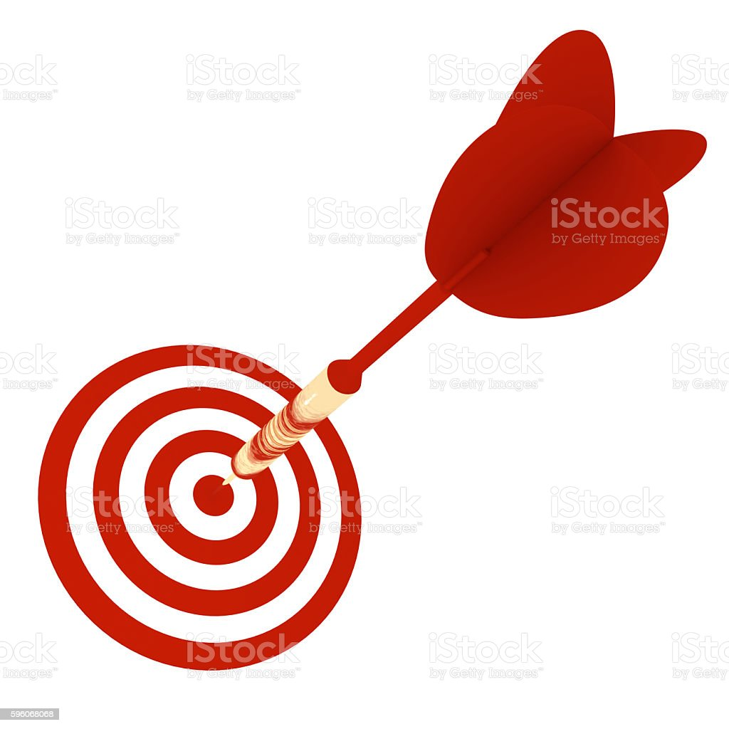 Dart on target success competition concept royalty-free stock photo
