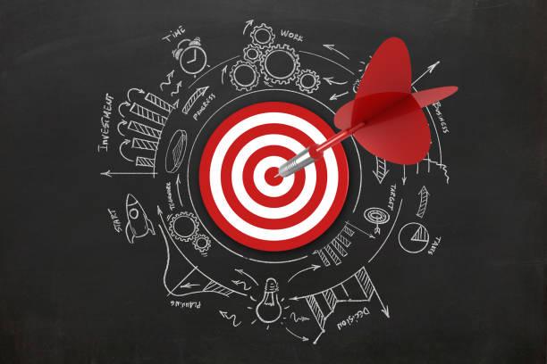Dart Ziel-Geschäftserfolg Idee Innovation – Foto