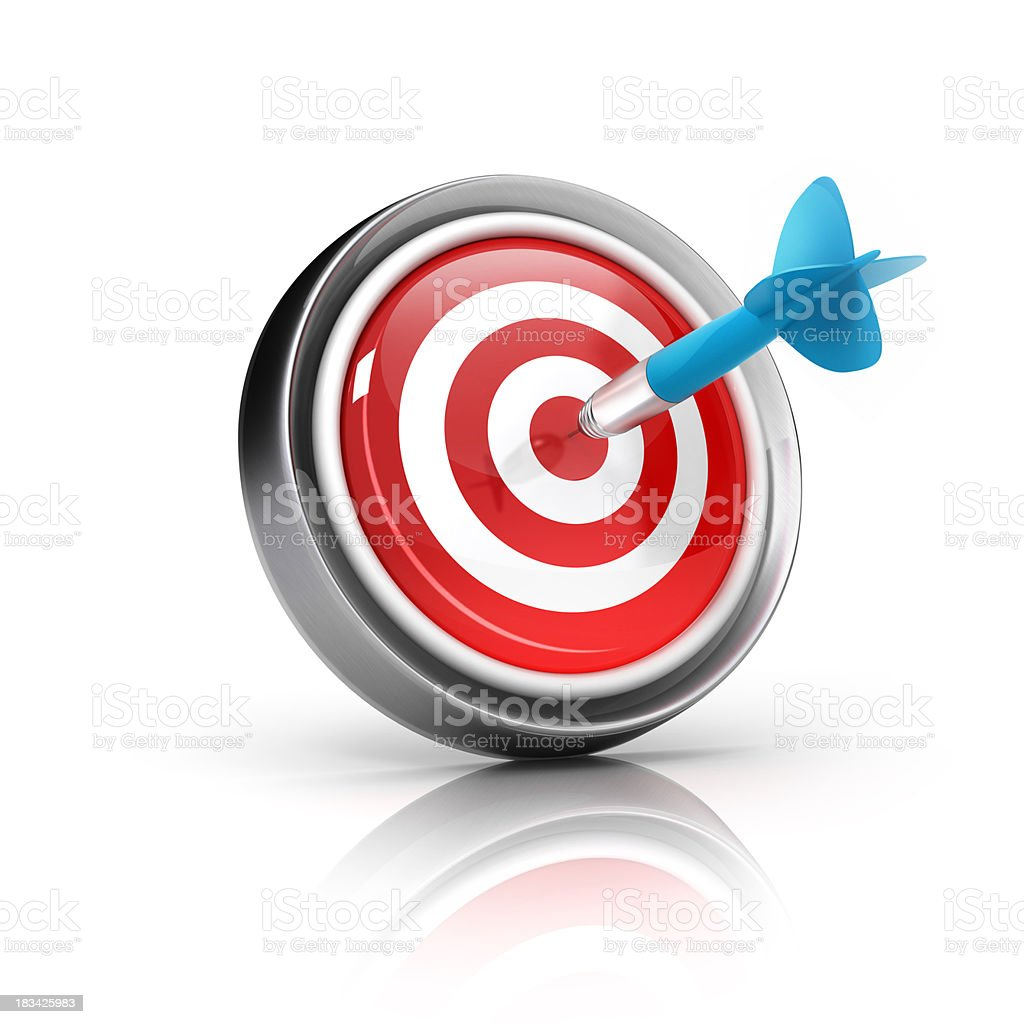 Dart Target Icon stock photo