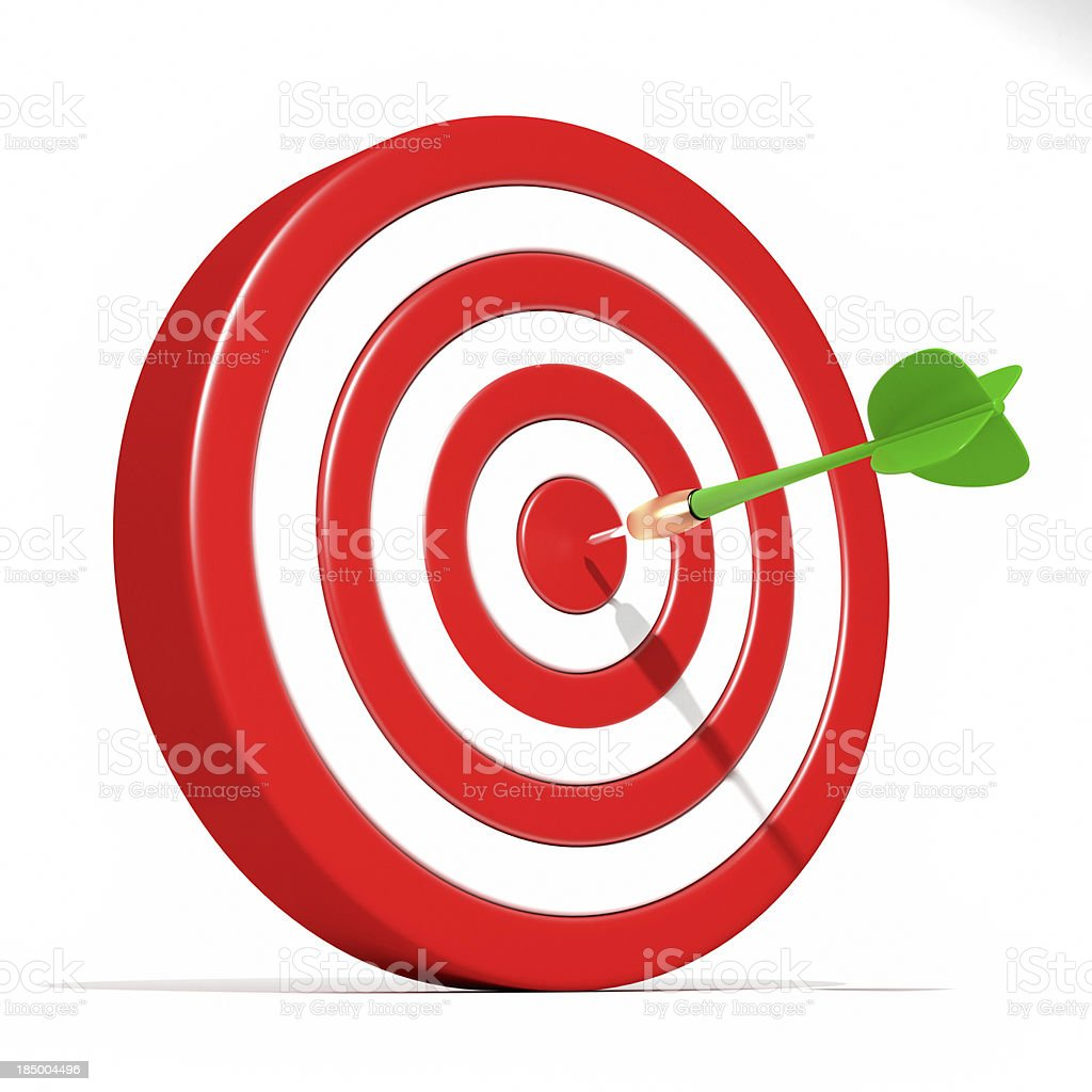 Dart Target Success stock photo