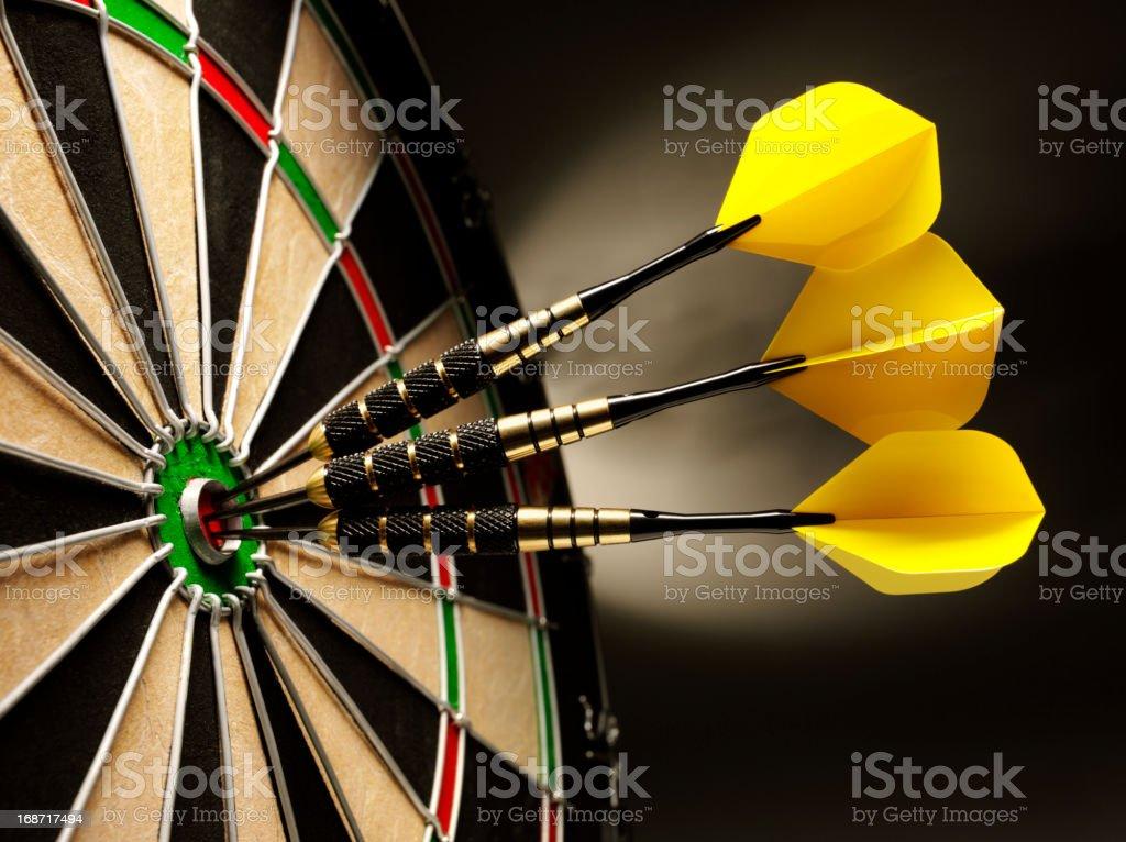 Dartboard and Darts royalty-free stock photo