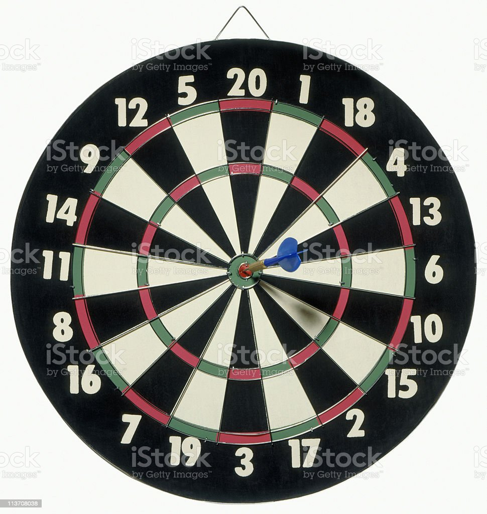 Dartboard bull's eye stock photo