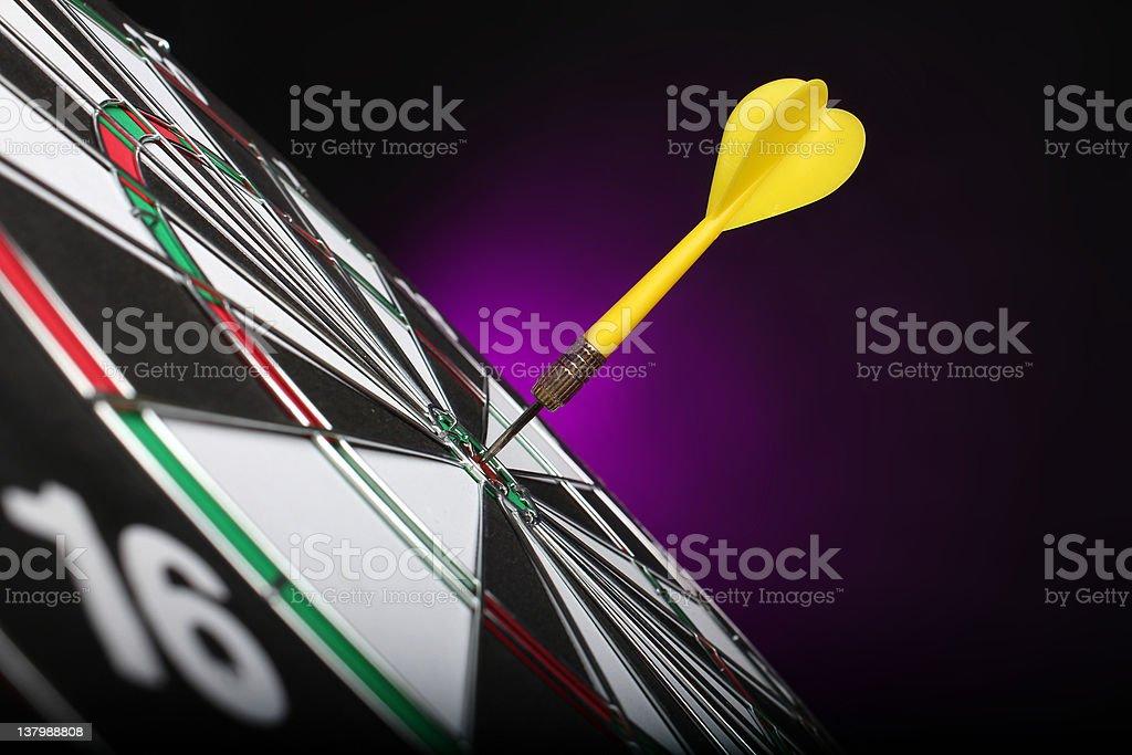 Dartboard bull´s eye royalty-free stock photo
