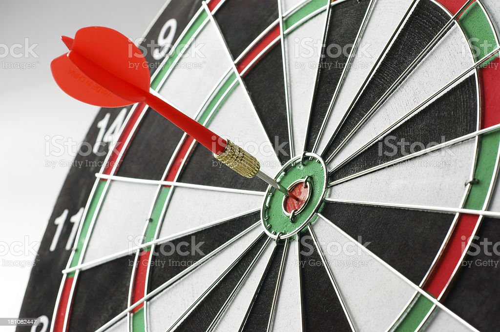 Dartboard Bull's Eye royalty-free stock photo