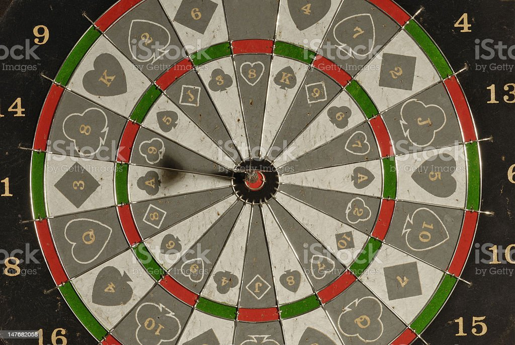 Dartboard Bullseye royalty-free stock photo