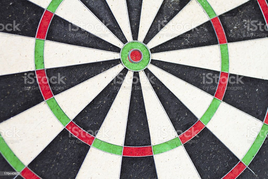 Dartboard Close-up royalty-free stock photo