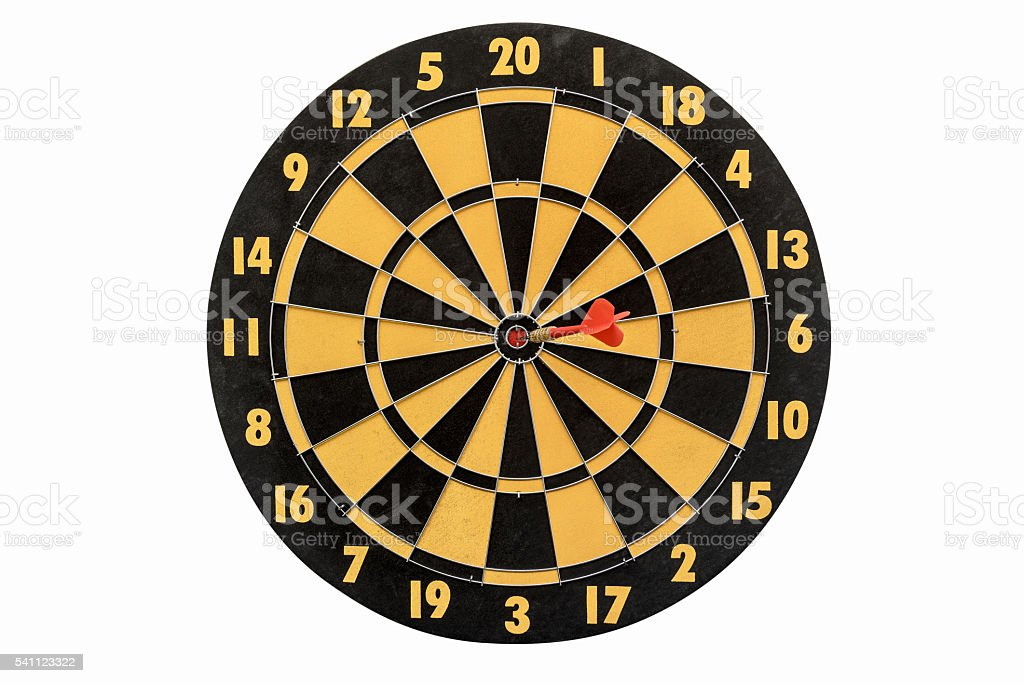 dartboard isolated on white background stock photo