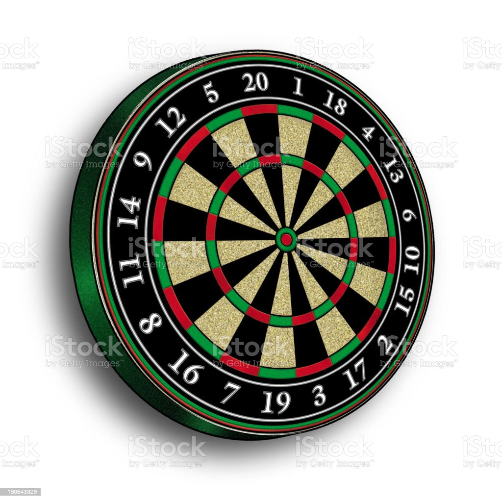 Dartboard (4) royalty-free stock photo