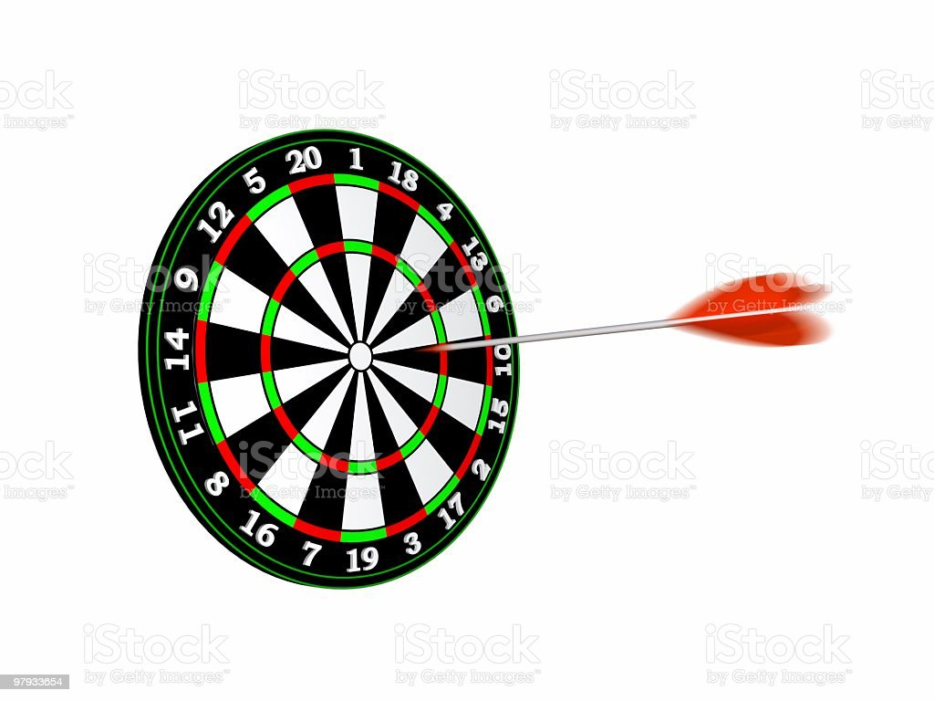 3D dartboard royalty-free stock photo