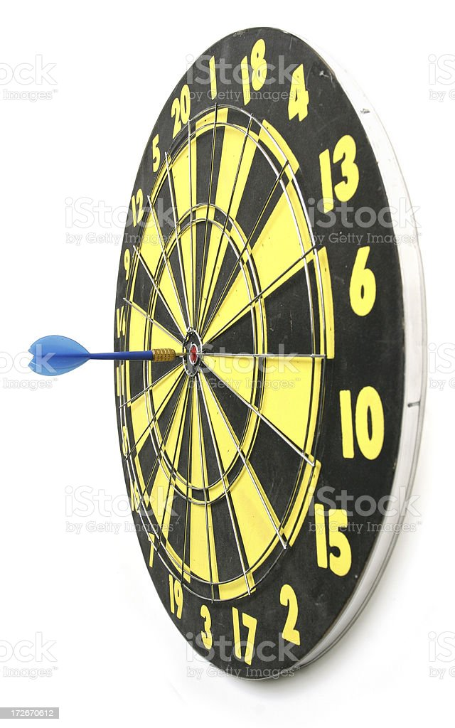 Dartboard w/clipping path royalty-free stock photo