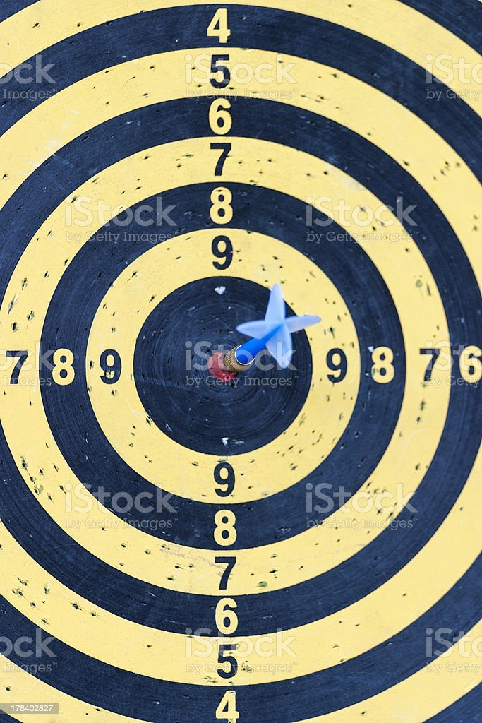 Dartboard with arrow royalty-free stock photo