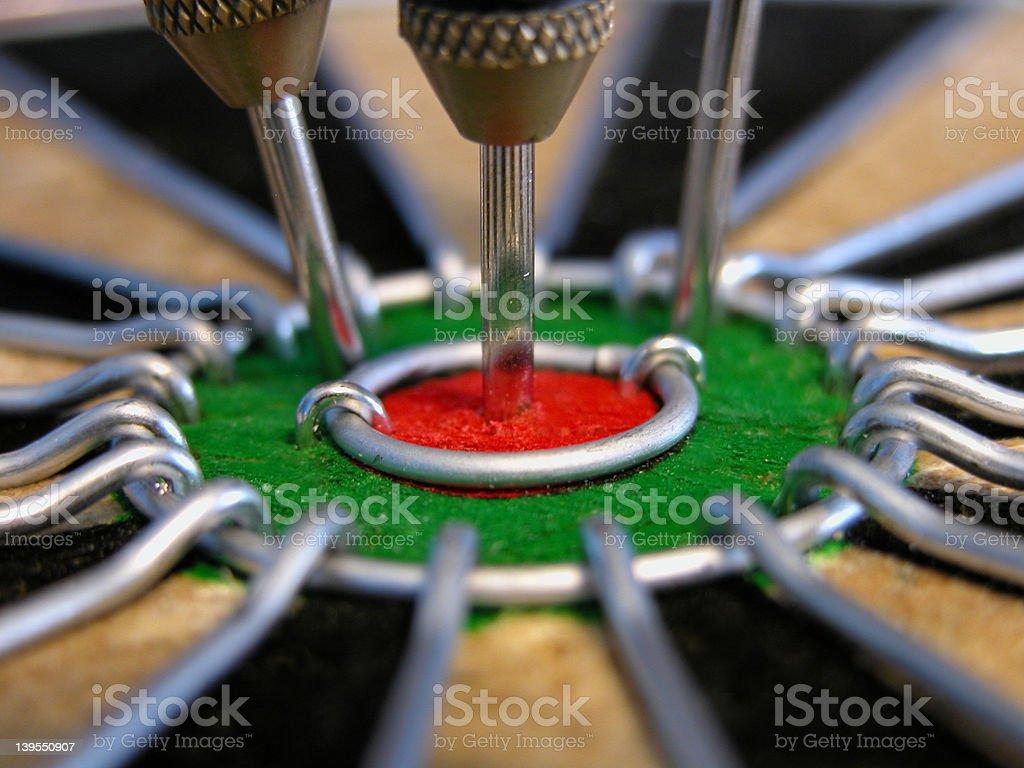 Dartboard with bulls-eye royalty-free stock photo