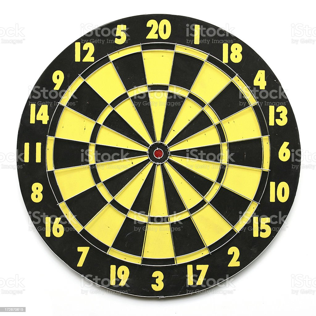 Dartboard with clipping path royalty-free stock photo