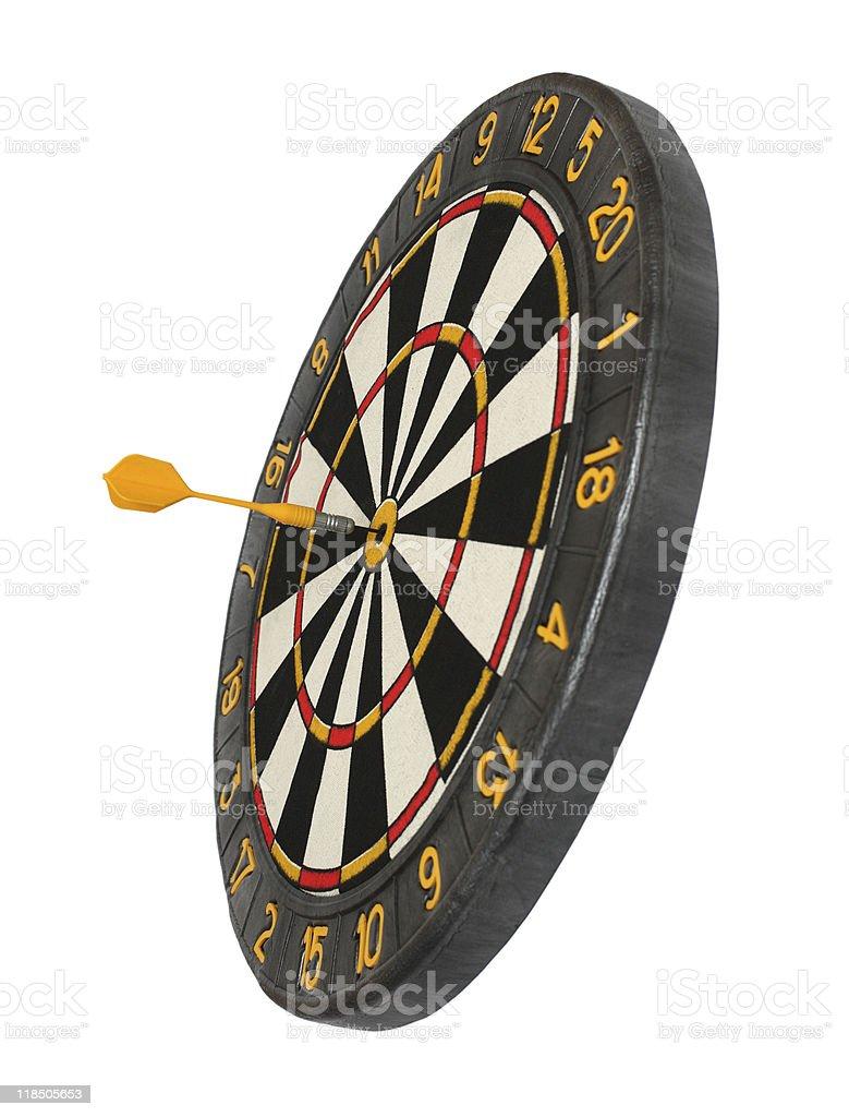 dartboard with dart in aim royalty-free stock photo