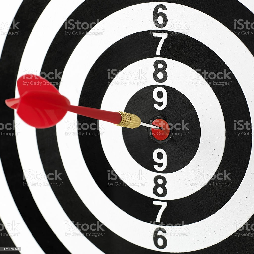 Dartboard with dart royalty-free stock photo