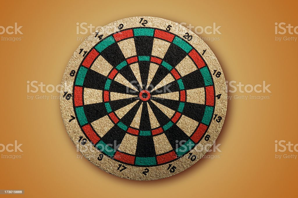 Dartboard with PATH royalty-free stock photo