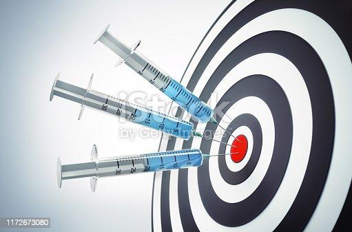 Aim, darts , dartboard, marketing, target, 3d illustration, hit, success ,medical business concept