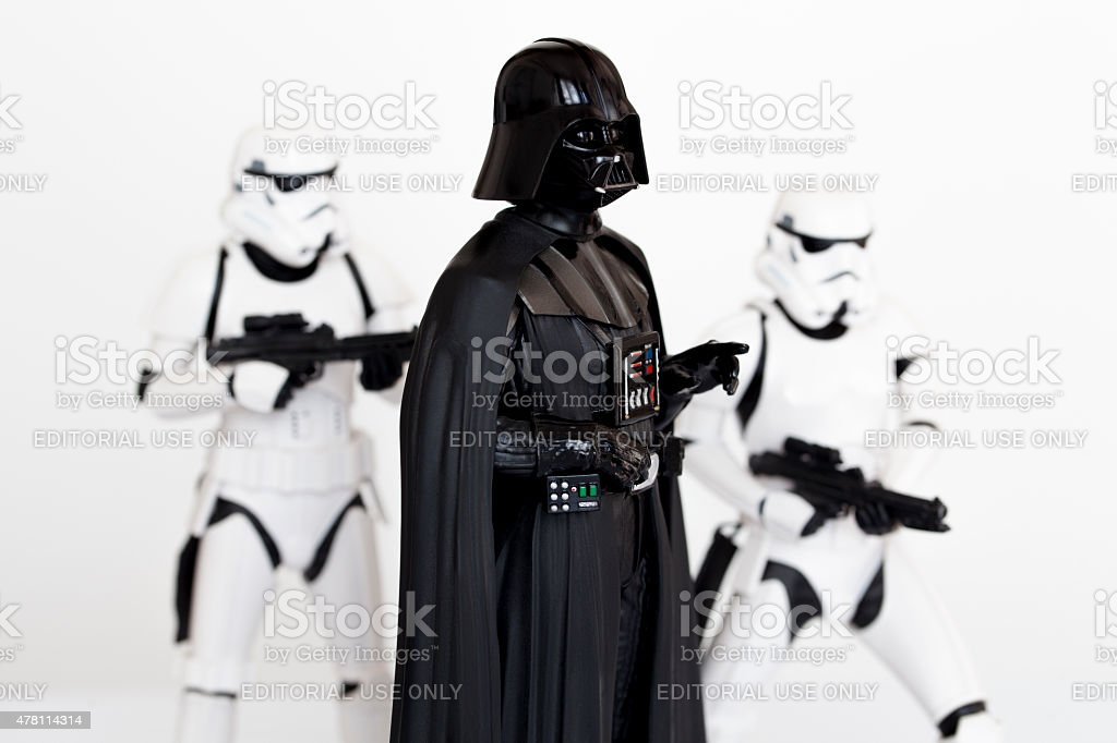 Darth Vader and Stormtroopers stock photo