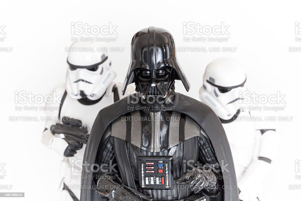 Darth Vader 및 Stormtroopers - 로열티 프리 2015년 스톡 사진