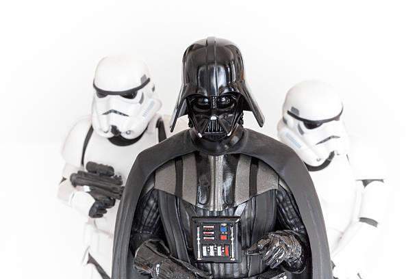 darth vader and stormtroopers - darth vader stok fotoğraflar ve resimler