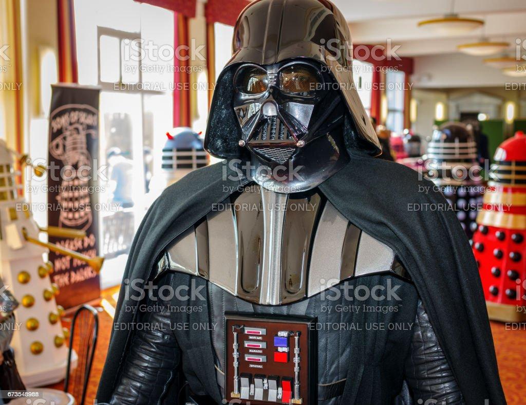 Darth Vader at convention stock photo