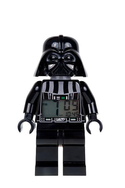 darth vader lego minifigure alarm clock - darth vader stok fotoğraflar ve resimler