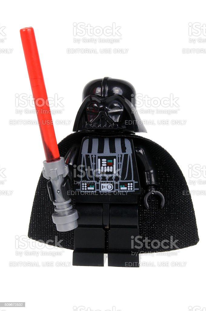 Darth Vader Minifigure stock photo